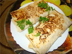 Russian home chicken wraps doner kebab