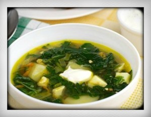 Traditional Russian summer nettle soup for beauty vitamin E