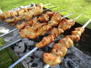 Russian food BBQ shashlik grill recipe