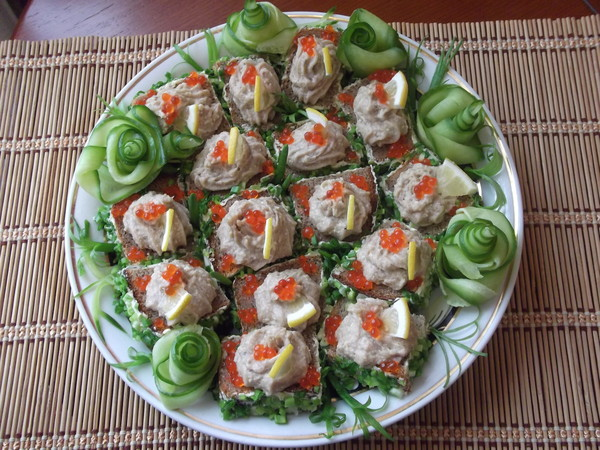 Russian finger food herring butter spread recipe